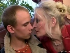 Granny banging with her young and fresh boyfriend
