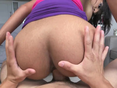Latina with huge fake bra buddies bares it each and all and she masturbates
