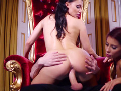 A sexy lady is getting fucked really hard in the royal palace