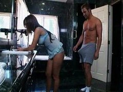 Morning have an intercourse in bathroom
