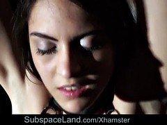 naughty sub girl in bdsm punishment of bad behavior injection