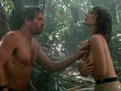 Tawny Kitaen nude in the rain with hard soaked nipples