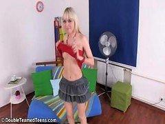 Double Defloration Of Beautiful Blonde Virgin