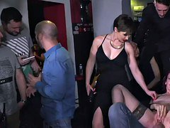 redhead gets corporal punishment in public places