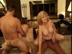 Classic Hot Grown-up Cougars Foursome