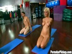 Lexi Does Naked Yoga With A Fan