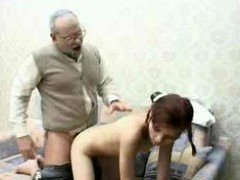 Utterly mature grandpa has an intercourse young 18-19 y.o.