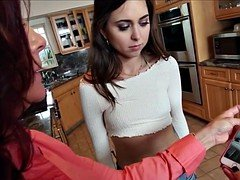 Taboo stepmom pussylicking teenage while fucked
