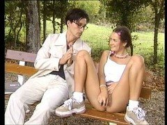 GERMAN NERD Gets down and dirty A Adorable European Hoe #1
