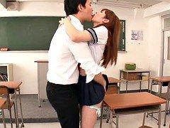 Japanese schoolgirl bangs afterclass