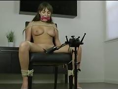 Chair Pegged down Orgasm