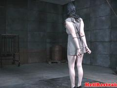 BDSM sub pussy spreaded and toyed by maledom