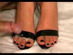Strapy High Heels And besides Toes Spunked