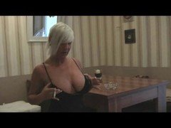 Aroused Soccer mom Flashes Her Tits And plus Pu