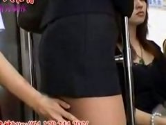 Nasty asian 18-19 year old doesnt mind public ass touching