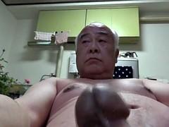 Japanese old man all the naked handjob