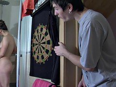 Russian mom makes love her aroused stepson wherever on the house