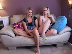 Heather And Tara Make Daddy Cum!