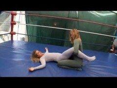 Adorable Spandex Wrestling