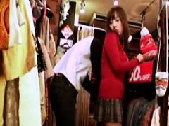 Oriental girl is groped and dry humped in the clothing episode