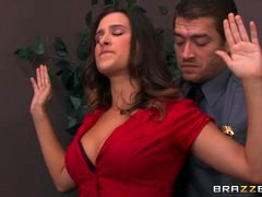 Brazzers - Ashley Adams gets pounded by a couple of cops