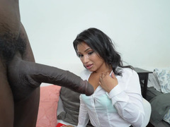 A black dude that loves little horny latinas is fucking this one