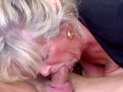 Boobalicious mature loves young-looking love pole
