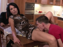 One more guy fucks his brunette wife from behind