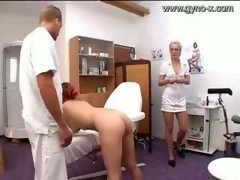 Gyno Exam Of Milky Gal By Docto...
