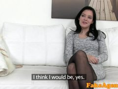 FakeAgent Fit slender adult model seduced and furthermore fucked by agent