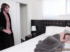 A steamy 18-19 year old gets waked up by her horny step dad and additionally completely sure to give him oral sex