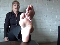 Ticklish soccer mom soles