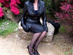 Leather aged on stilettos