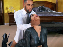 Romi Rain gangbanged in latex