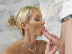 Elegant milf housewife cheats with a hard young dick