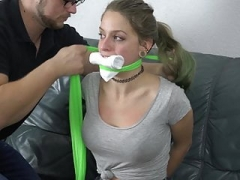 Violet Haze - Neighbour Gal Pinioned and Gagged PROMO