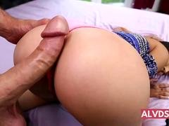 Petite Latina Takes Huge Cock Martini Bows