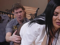 Busty prosecutor gets her tight asshole fucked hard