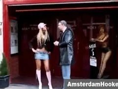 Actually dutch prostitute seduces tourist in amsterdam red light sex district