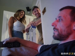 Busty MILF Aubrey Black cheats on her husband with repairman
