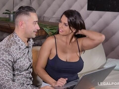 Top-heavy long-haired sex goddess Chloe Lamour lets him fuck her wet pussy hard GP568