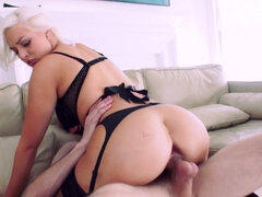 Jenna Ivory's fat butt get pluged & stretched by a huge cock first time ever