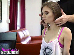 Anya Olsen Plays with her dad -- full flick