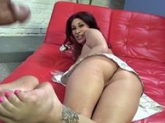 mom i`d like to fuck gives bbc footjob hardcore