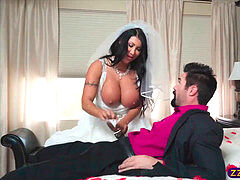 chesty bride gets banged by her crush on wedding night