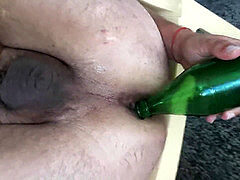 PnP Pig Slut made use Beer Bottle to Gape anal invasion and send vid to father