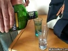 She fucks her son in law after couple of drinks