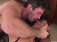Raven Hart in black stockings getting anal sex pounded