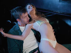 Kimmy Granger does a lap dance & rides a monster cock in the strip club