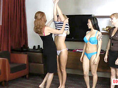 IT'S A group THING! 5 nymphs Challenge Each Other to a disrobe